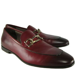 prioridad Perfecto A veces a veces  M-13186 New Salvatore Ferragamo Boy Rouge Ferr Calf Red Loafers Size US  8.5D   eBay