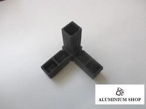 Plastique-25x25-carre-TUYAU-connecteur-d-039-angle-plastique-pipe-amp-tube-carre