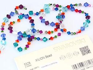 Genuine-SWAROVSKI-5328-XILION-Bicone-Crystals-Beads-Many-Sizes-amp-Colors