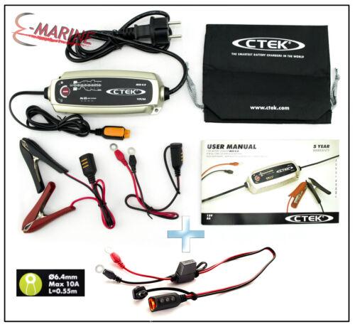 CTEK MXS 5.0 Caricabatteria 12V comfort con occhielli M6