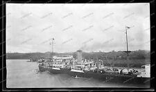 Vintage-Negativ-Panama-Kanal-Canal-Passagier-Dampfer-Schiff-Ship-Bahn-1920s-5