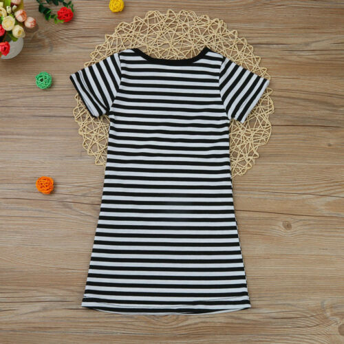 Summer Toddler Baby Kid Girl Casual Short Sleeve Party Princess Dresses Clothes