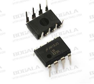 5PCS IC LM833N LM83 DIP-8 Dual Low Noise Audio Op-Amp NEW High quality