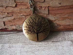 Tree-Of-Life-Brass-Locket-Pendant-Statement-Handmade-Tree-Necklace