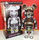 Medicom 2016 Be@rbrick Terminator Genysis 400% T-800 Silver Bearbrick 1pc