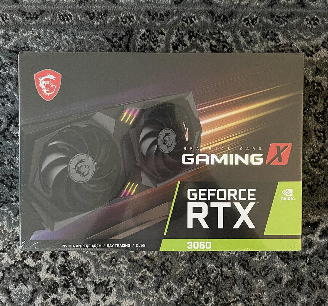 🔥✅MSI GeForce RTX 3060 Gaming X 12GB OC GDDR6 Graphics Card ✅🔥Ships Fast! NEW!