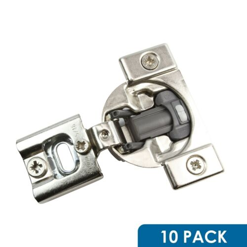 "10 Pack Blum 105 Deg 1//2/"" Overlay Press in Soft Close Cabinet Hinge 38N358B.08"