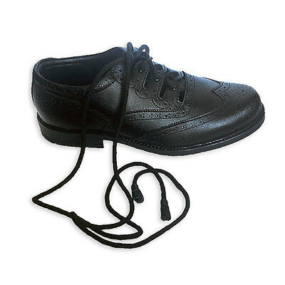 Great Gift: Gent's Black Ghillie Brogues, Mens Kilt Shoes, All Size