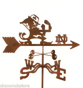 University-of-Notre-Dame-Weathervane-UND-Fighting-Irish-with-Choice-of-Mount