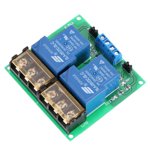 2-Channel DC 5V 30A Relay Board Module Optocoupler Isolation High//Low T0D5