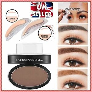 Eyebrow Stamp Seal Palette Set Two Color Shadow Powder Waterproof Eye Brow Stamp Powder Natural Shape Eyebrows Powder Palette Beauty Essentials