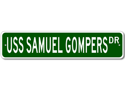 USS SAMUEL GOMPERS AD 37 License Plate Military USN P01