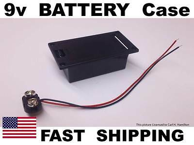 replacement 9V battery box with 9V cable for bass guitar and other guitars