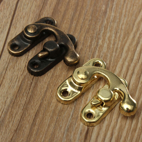 """5pcs Antique Metal Catch Curved Buckle Horn Lock Clasp Hook Jewelry Box Padlock"""""""