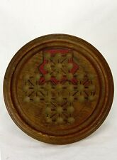 Antique Victorian Wood Marble Game Board ca1890