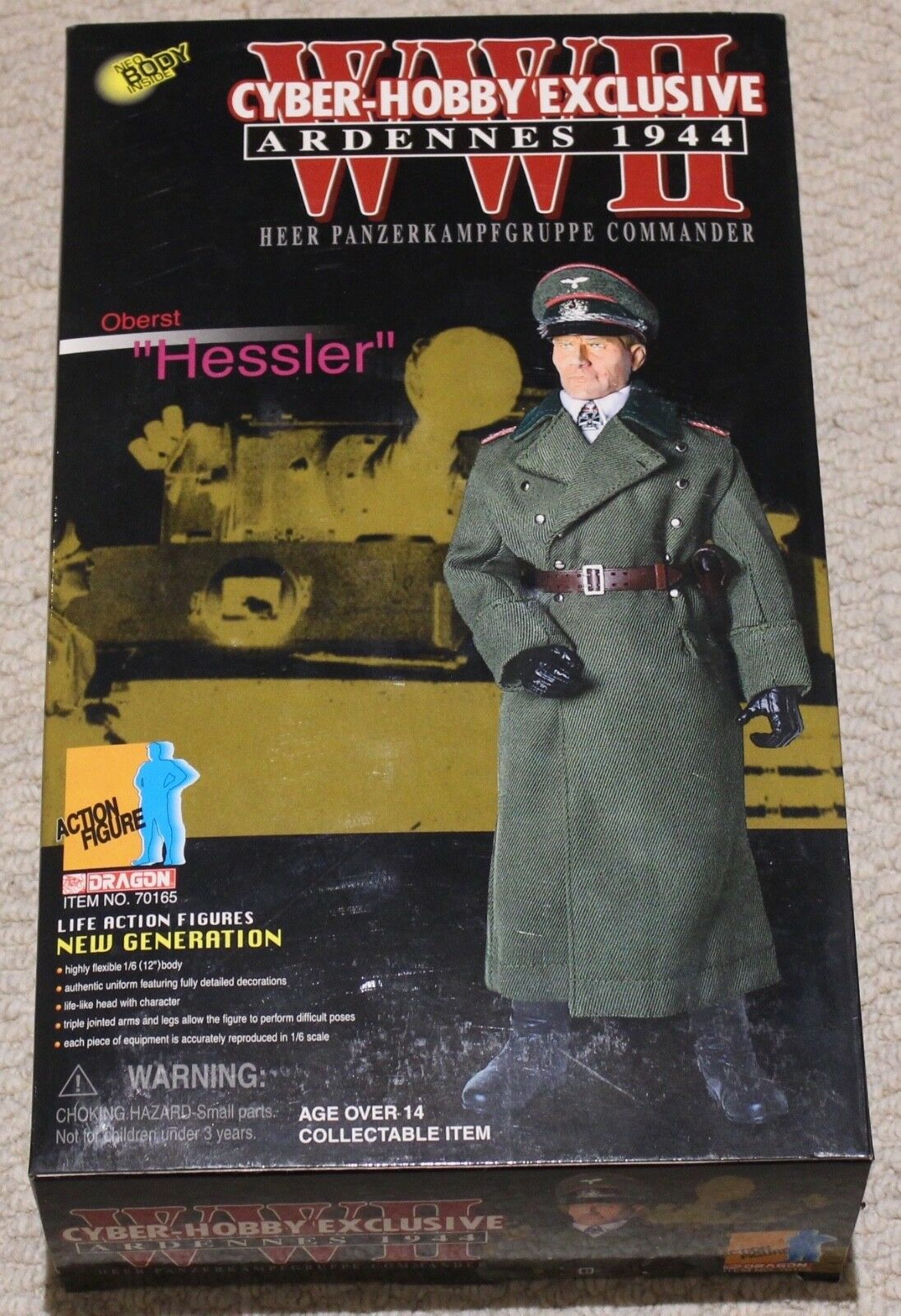Dragon action figure 1/6 ww11 german hessler 12'' boxed did cyber hot toy