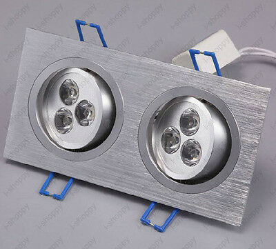6W Dimmable/N LED Ceiling Spot Light Fixture Recessed Grid Hall Office Shop Lamp