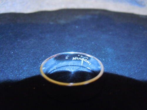 NEW PURE SILVER .999 BULLION WEDDING  BAND SET MADE BY ANARCHY PM JEWELRY #E3-1