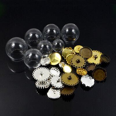 Round Glass Pendant Wishing Bottle Creative DIY Jewelry Accessories Empty Bottle