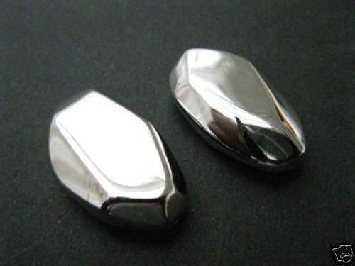 2 acrílico perlas liso brillante plata de colores 27x16x8mm perlas nuevo 4715 k5