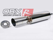 """Forza TH2-03 Universal Round Muffler & Tip 2.5"""" May Fit Accord Civic Prelude"""