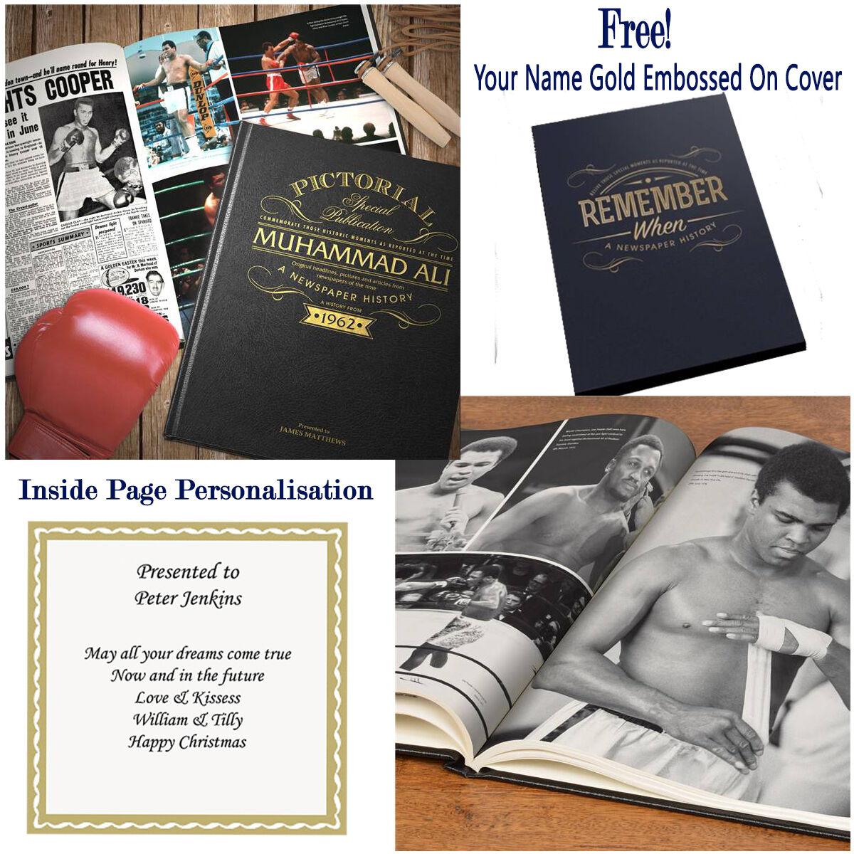 Personnalisé de Muhammad Ali Special Ed Journal Livre Papa Frère cadeaux d'anniversaire