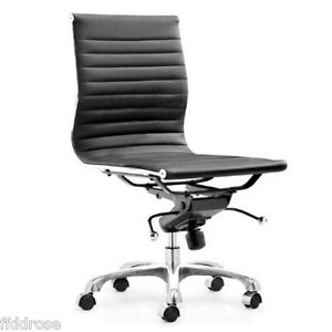Image Is Loading Modern Armless Office Chair In Black Eames Style