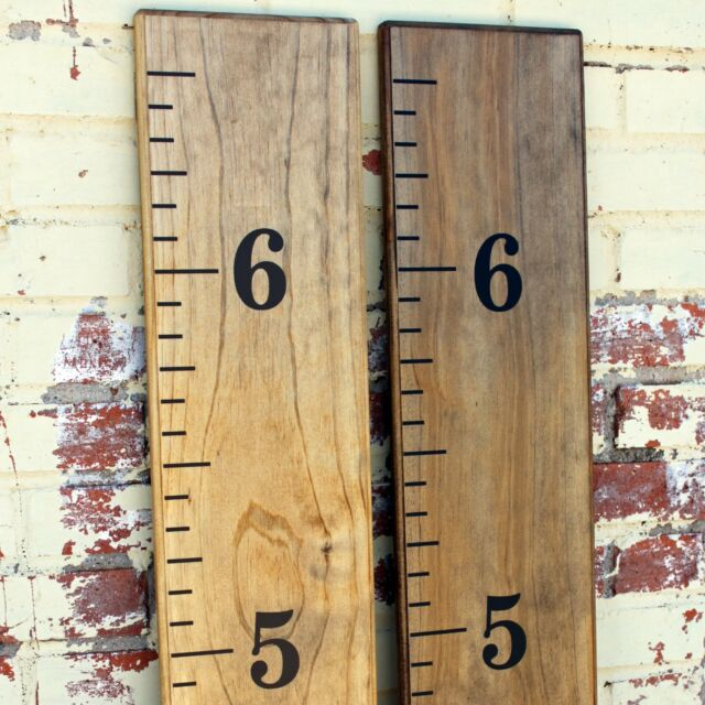 Diy Vinyl Growth Chart Ruler Decal Kit Traditional Style Large
