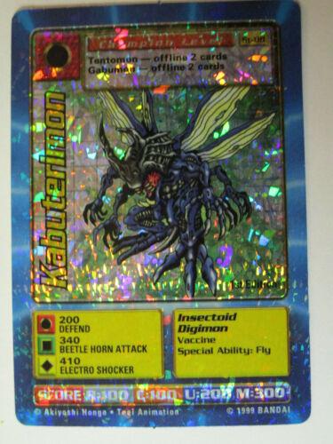 Kabuterimon St-08 Holo Foil Digimon Card 1999 1st edition