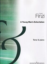 The Cheapest Price Finzi A Young Man's Exhortation Op14 Tenor & Piano Sheet Music & Song Books Contemporary