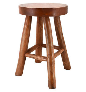 Hocker-Teak-Holz-Hocker-Sitzhocker-Beistelltisch-Holzhocker-Garten-Schemel-Stuhl