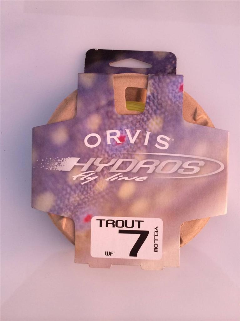 Nueva línea Orvis hydros Trucha Mosca WF 7 Amarillo