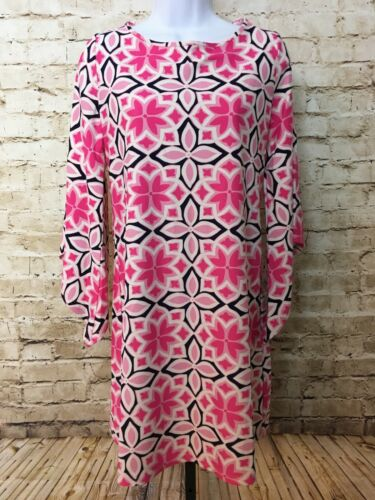 Aryeh Dress Pink Navy S Juliet Sleeves Polyester S