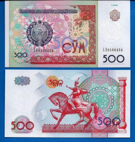Uzbekistan P-81 500 Sum Year 1999 Uncirculated Ex-USSR Banknote Asia