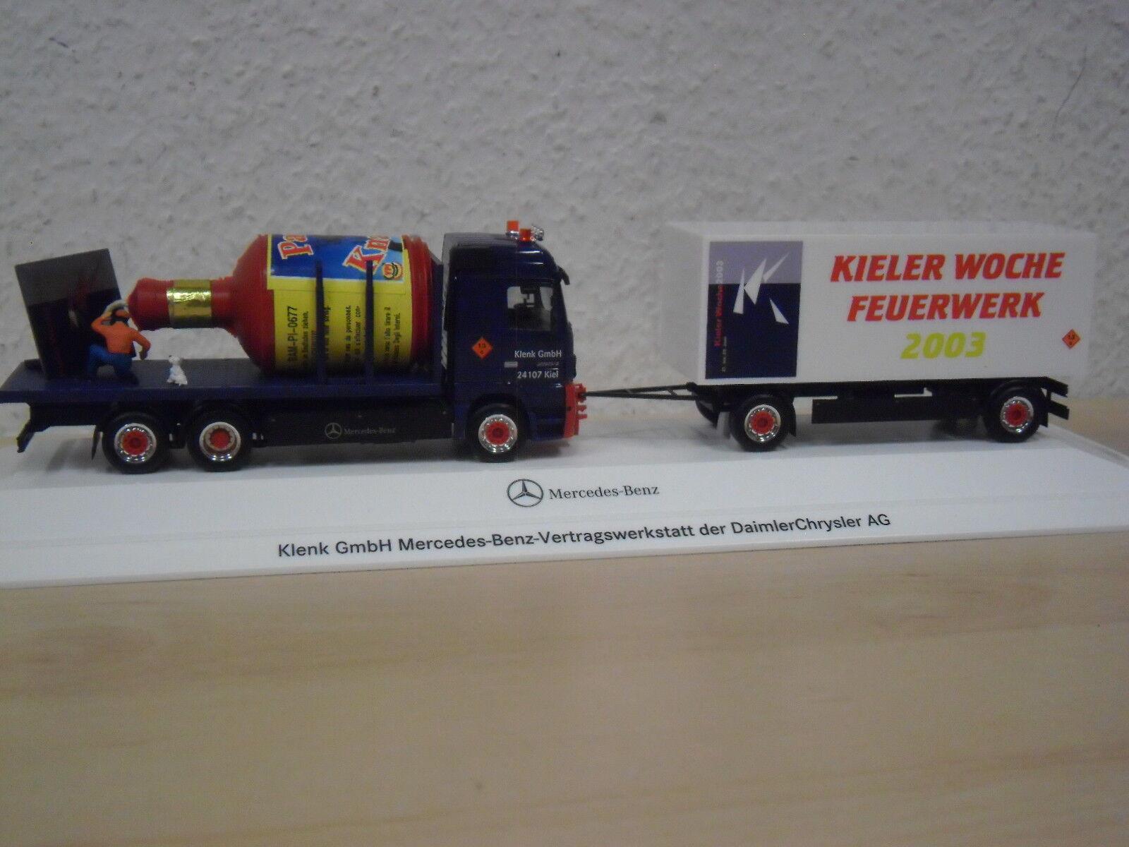 Herpa - MB Actros `02 Hängerzug  Klenk   Kieler Woche 2003  PC-Modell - 1 87  | Schönes Design