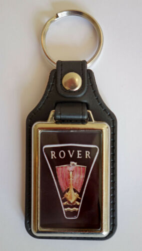 ROVER  CAR FAUX LEATHER KEY RING//KEY FOB.