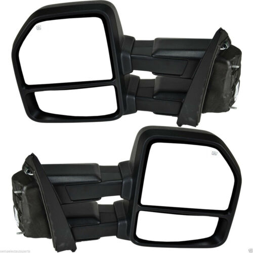 FOR 15-18 Ford F150 Pickup Towing Mirrors 8-PIN Power Heated LED Signals Pair