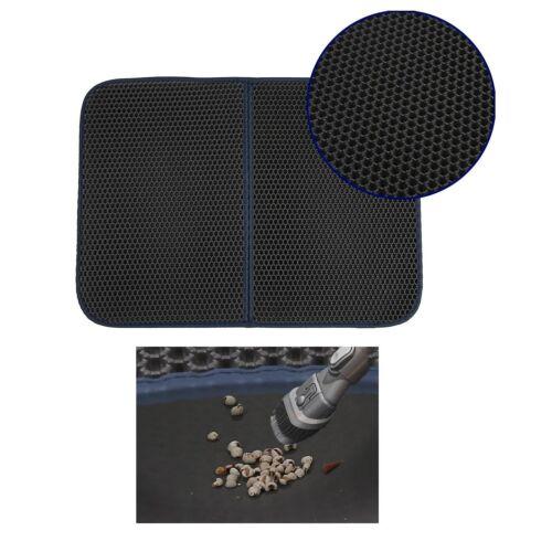 Durable Foam Rubber Cat Litter Catch Mat Honeycomb Filter Non-Slip Pad Layer XL