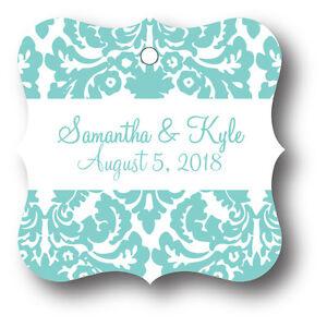 image is loading 24 damask personalized wedding favor tag bridal shower