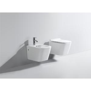 Sanitari-sospesi-forma-squadrata-in-ceramica-wc-vaso-rimless-bidet-sedile