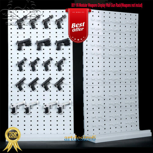 "1//6 Modular Weapons Arms Display Wall Gun Rack Stand Infinite Expansion12/""Figure"