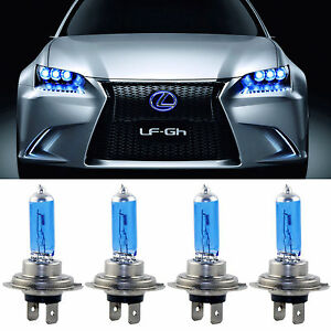 4pcs h7 100w xenon led 12v voiture lumi re lampe phare ampoule blanc headlight ebay. Black Bedroom Furniture Sets. Home Design Ideas