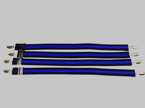 BLUE LINE Military 4pk Shirt Stay Garters
