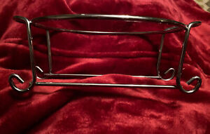 """Vintage Pyrex Casserole Dish Cradle Holder Round 8"""" With Handles Stainless Steal"""