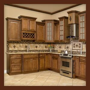 Details about 10x10 All Solid Wood KITCHEN CABINETS GENEVA RTA