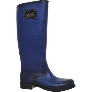 Eu Uk Moschino elettrico 38 Wellington blu 5 Size Stivali Womens BaXpwxqBZ