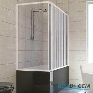 OVER BATH SHOWER ENCLOSURE PLASTIC PVC FOLDING DOORS PANEL SIDE ...