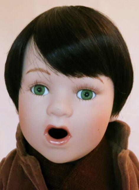 Unbranded Infant Black Full Adj. Cap Doll Wig Size 9-10 Boy, Girl, Toddler, Baby