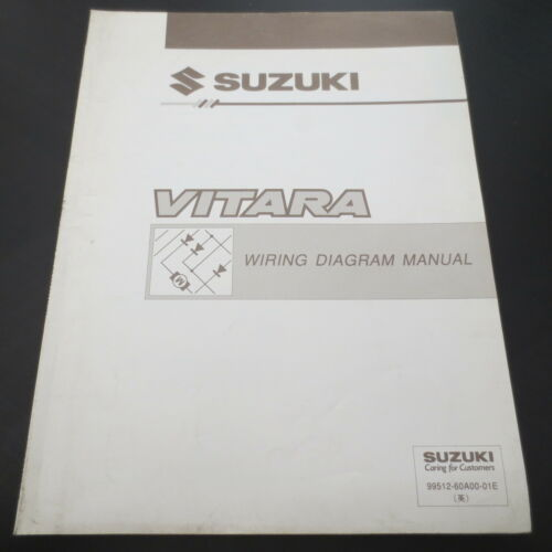 Werkstatthandbuch Suzuki Vitara Verkabelung Wiring Diagram Manual in english