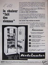 PUBLICITÉ 1955 KELVINATOR REFRIGERATEUR GOVERNOR - ADVERTISING